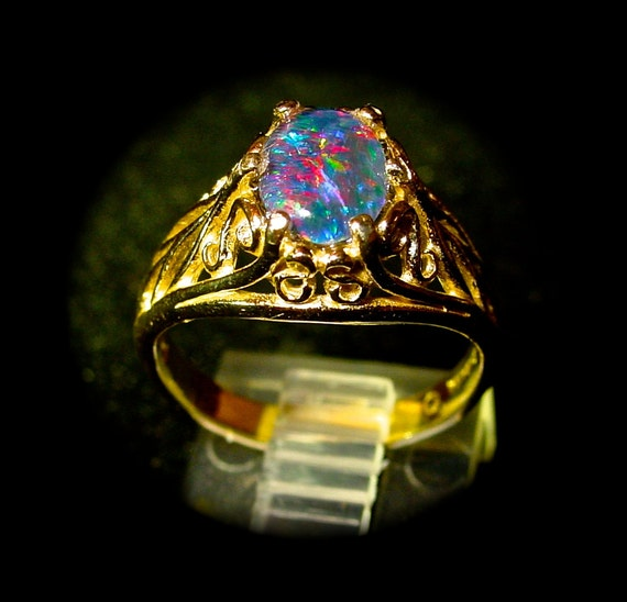 Elegant Real Opal Engagement Rings
