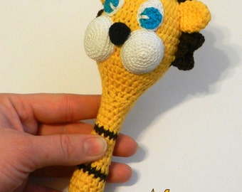 Children's toy*** crochet rattle*** little lion***crochet toy for your baby
