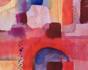 Abstract with Arch-Original-Watercolor