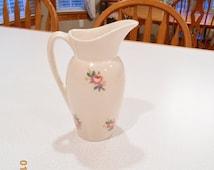Vintage Pitcher Cream Pitcher Royal Copley Rose Porcelain Pitcher Pretty Collectible Floral
