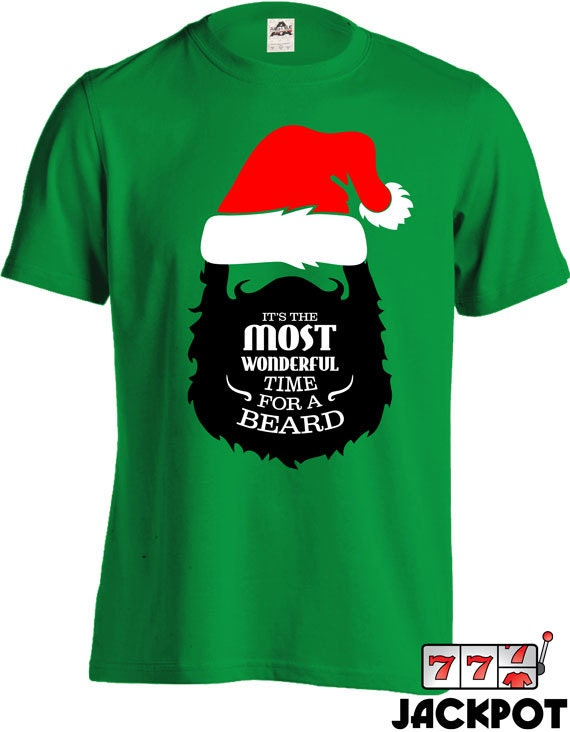 Funny beard shirt christmas t it s the most