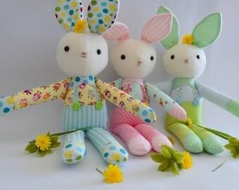 "PDF sewing pattern soft toy Stuffed doll Plushie    Little   ""KERAH RABBT"""