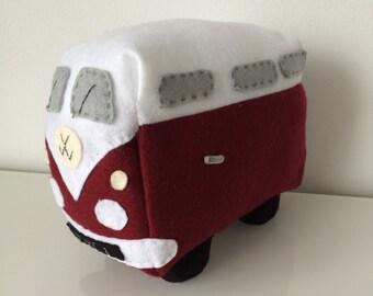 Personalised Felt VW Camper Van