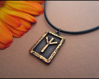 Viking Algiz / Elhaz Rune Pendant - Protection - Viking Norse Jewelry Necklace Pendant