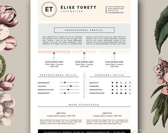 resume template 4 page resume and free cover letter for ms word pages
