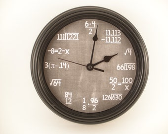 MATH Arithmetical EXPRESSIONS Teacher's Wall CLOCK