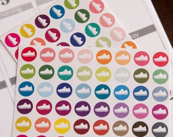 96 matte run stickers, exercise sticker, planner stickers, workout stickers, fitness, eclp filofax happy planner kikkik