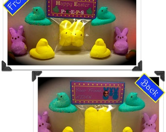 "CustoMoms Personalized Easter ""Favorite Peeps"" Candy Grams"
