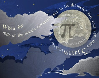 Moon Pi  signed print