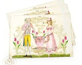Marie Antoinette, high tea invitations, romantic couple, shower tea invitations, tea party, Wedding, vintage style, invitation cards