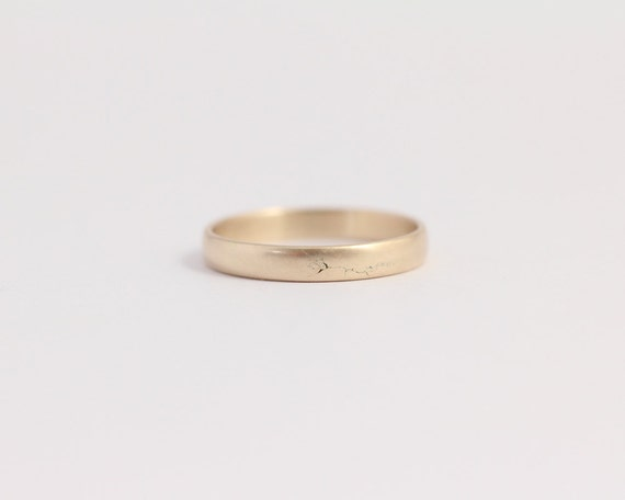 Ethical Gold Wedding Band 14kt Eco Friendly 3mm Yellow Gold