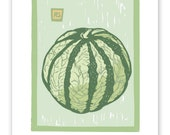 French Melon Block Print Art Reproduction