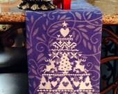 God Jul White Christmas Tree with Reindeer