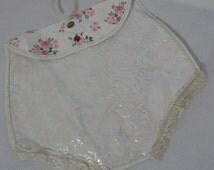 Vintage 50s Lingerie Bag Plastic Stockings 1950s Organizer Floral Print Panties Lace Hanger 50s Novelty Rockabilly