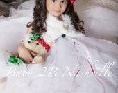 Girls Winter Wedding Shawl White Fur Wrap  Faux Fur Shoulder Wrap