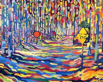 Print - Where There's a Willard / Willard Way - High Quality Print on Archival Paper - abstract painting