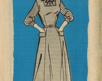 1950s Mail Order 4854 Vintage Sewing Pattern Misses Half Size Blouse and Jumper Size 16-1/2 Bust 37