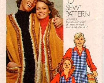 Vintage UNCUT Simplicity How-To-Sew Pattern 9571 - Misses Vest and Bag - Size 14