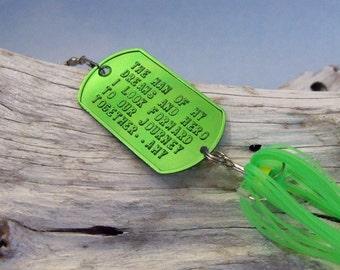 Gift For Groom From Bride Gift for Him Romantic Gift for Husband Gift for Men Boyfriend Embossed Fishing Lure Gift Wedding Groomsman Idea