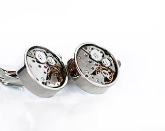 Alternative Wedding Silver Cuff links