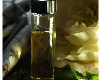 burlesque - botanical perfume oil woven of white gardenias and musk meticulously forged to be an exercise in seduction - 1/2 oz