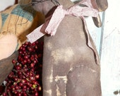 Primitive Hand Made  Walnut Stained Rabbit  HAFAIR