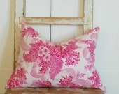 Decorative Throw Pillows, Shabby Chic Pillow, Pink Pillow, Throw Pillow, Hot Pink Pillow, Bohemian Pillow, Decorative Pillow, Cottage Chic