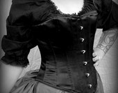 c.1860 Victorian Corset in Satin Coutil