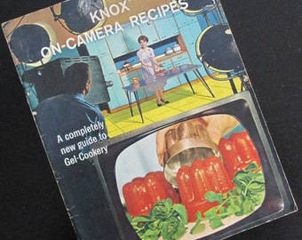 Vintage Cookbook Knox On-Camera Recipes 1963 Pamphlet Booklet Guide to Gel Cookery Jello Mold