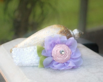 Girly Flower Headband. Lavender White Green Pink, Etsy Handmade Spring Pink Preteen Fashion, Princess Birthday Party Newborn Baby Happy Cute