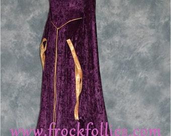 Thora, a Pagan, Pre-Raphaelite, Medieval, Wiccan Custom Made Hand Fasting, Wedding Dress