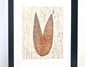 Original woodcut block print Watership Down's Black Rabbit of Inlé Literary Book