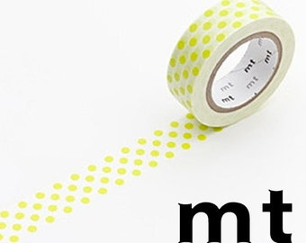 Polka Dot, Pastel Light Green, Japanese mt Washi Paper Masking Tape, Adhesive Tape, Wrapping, Cute Card Decoration,  Journal Deco, MT01D131