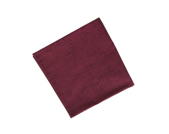 Ryo - Burgundy Pocket Square