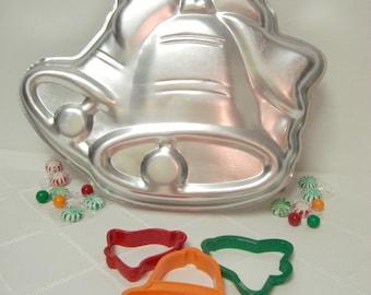 Bells Wedding Christmas Cake Pan 1979 Wilton Bridal Shower 502 1220 with Cookie Bells