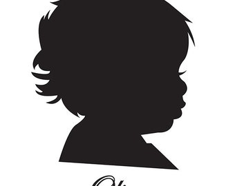 Custom Silhouette Printable - baby, children,family, or dogs/pets