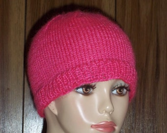 Chemo Cap Soft Hand Knit  / Women Men Children Chemo Hats /  Beanie Variations Color and Size