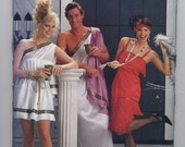 Butterick #4199 - Misses' and Men's Toga Costumes & Misses' Flapper Dress - Sizes XS to L - NEW and UNCUT