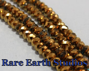 Gold Faceted Rondelle Beads 4x6mm 60215109