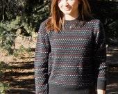 80s Rainbow Hearts Sweater