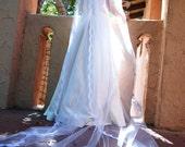 Cathedral Crystal Monogram Alencon Lace Wedding Veil - Shanghai