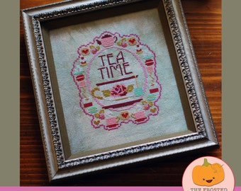 Tea Time : The Frosted Pumpkin Stitchery cross stitch patterns Mother's Day kawaii hand embroidery