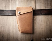 Leather Holster Wallet, iPhone holster, leather phone wallet, belt wallet, leather phone holster, Holster 052