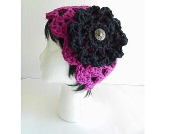 Crochet PATTERN -  Dora Flower Cloche Hat - (Toddler to Adult sizes)