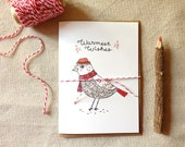 Warmest Wishes Bird Christmas Card