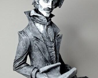 Edgar Allan Poe Statue, Black and White