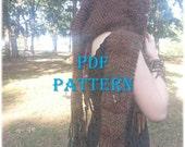 PDF Knitting Pattern - Hooded Scarf