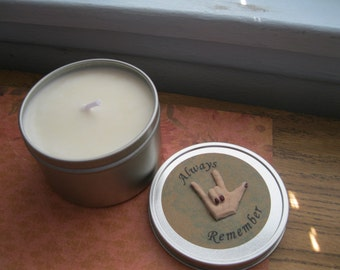 Soy  Candle ~ Always Remember I Love You Soy Candle ~  Sign Language ~ Massage  Candle From Distracting Me     Valentine Gift