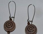 Brown Tribal Dangle Earrings