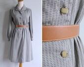 50% OFF - Vintage 80's Pajama Party Jade Green Geometric Print Dress S or M